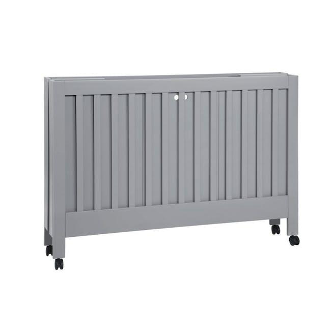 Babyletto Maki Foldable 2-in-1 Folding Crib - Grey - 5