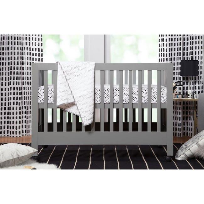 Babyletto Maki Foldable 2-in-1 Folding Crib - Grey - 2