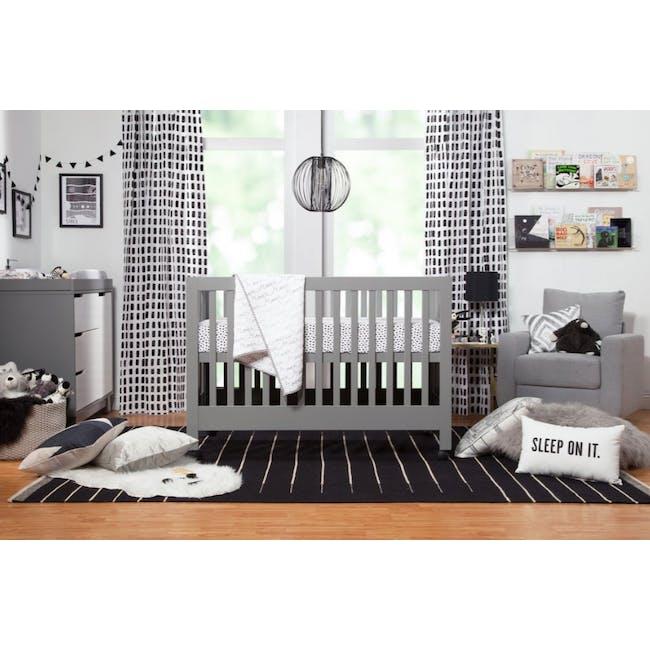 Babyletto Maki Foldable 2-in-1 Folding Crib - Grey - 1