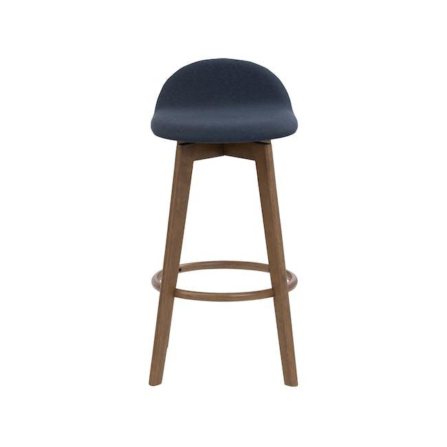 Mora Bar Chair - Walnut, Navy - 1