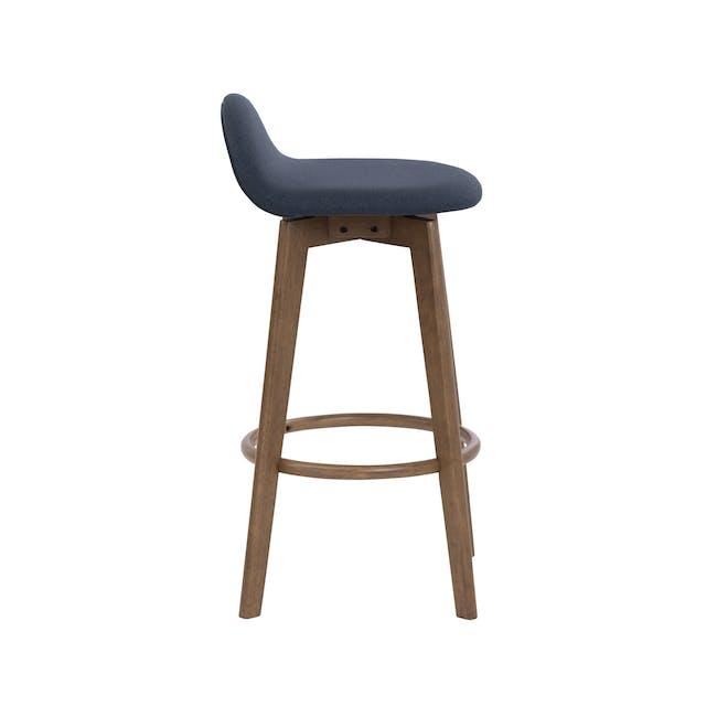 Mora Bar Chair - Walnut, Navy - 2