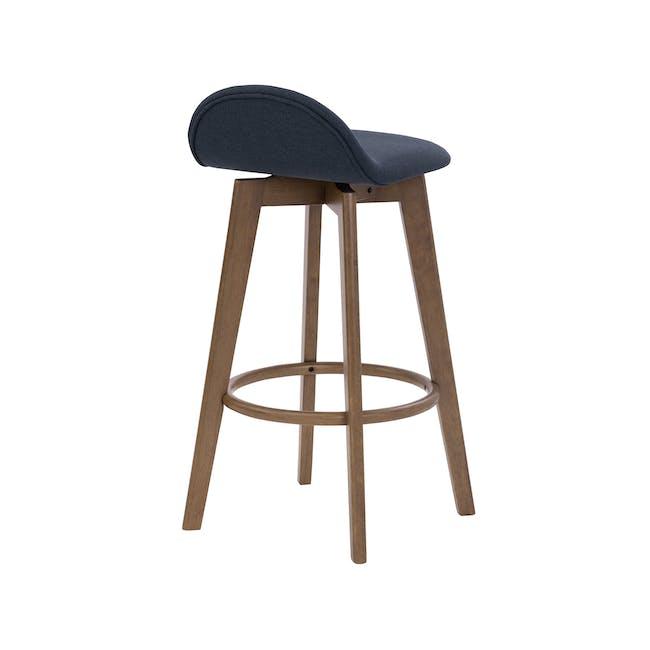Mora Bar Chair - Walnut, Navy - 3