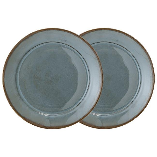 Haga Dinner Plate - Green (Set of 2) - 0