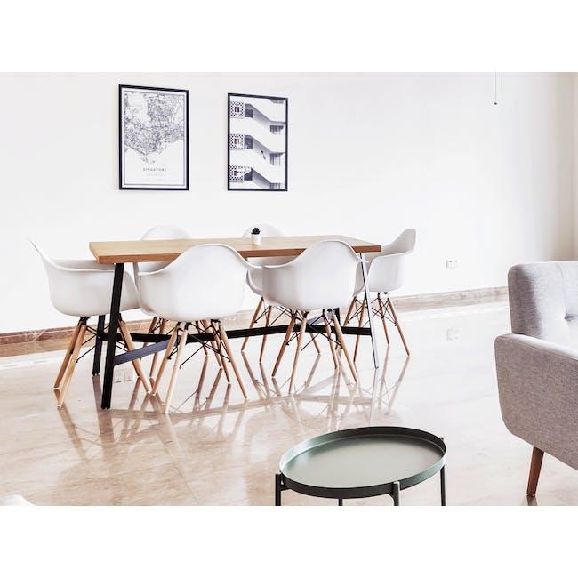 DAW Chair - Natural, White - 1