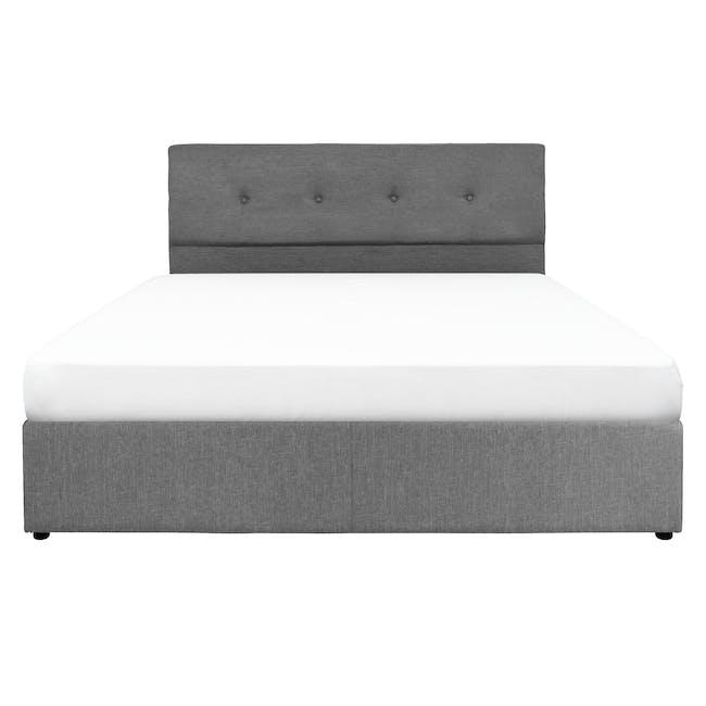 ESSENTIALS King Headboard Box Bed - Grey (Fabric) - 0