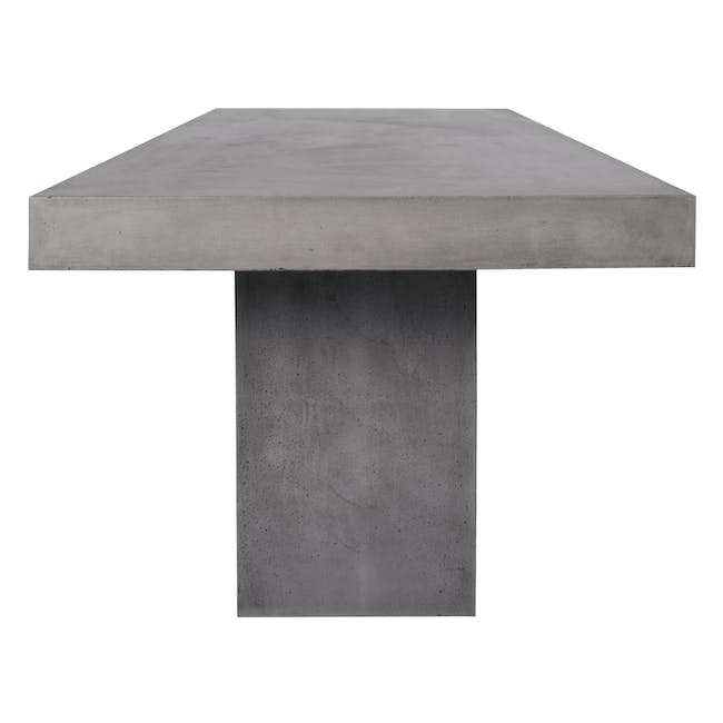 Ryland Concrete Dining Table 1.6m and 4 Starck Dining Chairs - 4