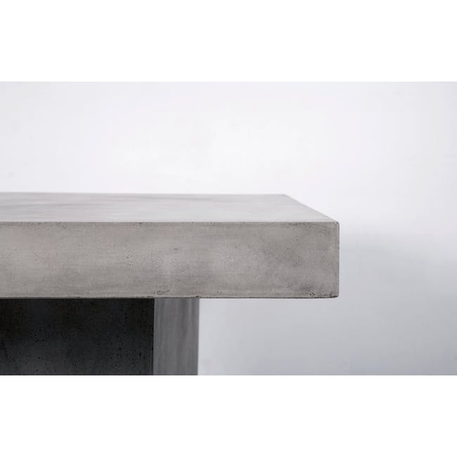 Ryland Concrete Dining Table 1.6m and 4 Starck Dining Chairs - 1