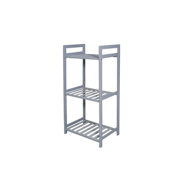 Ecohouze 3 Tier Bamboo Storage Shelf - Grey (2 Sizes) - 0