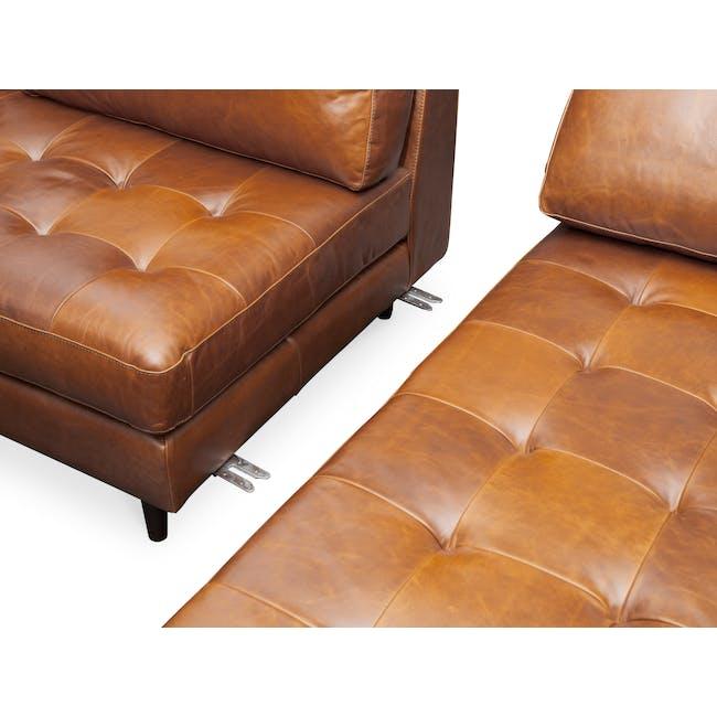 Nolan L-Shaped Sofa - Cigar (Premium Waxed Leather) - 8