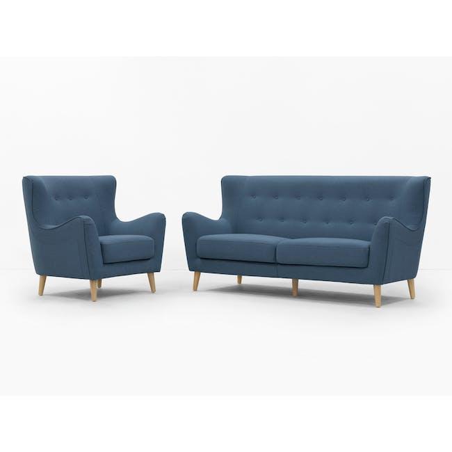 Jacob 3 Seater Sofa - Denim - 10