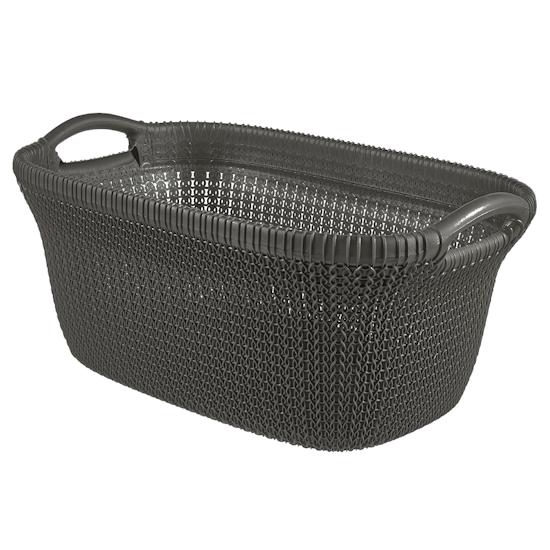 Curver - Knit Laundry Basket 40L - Harvest Brown