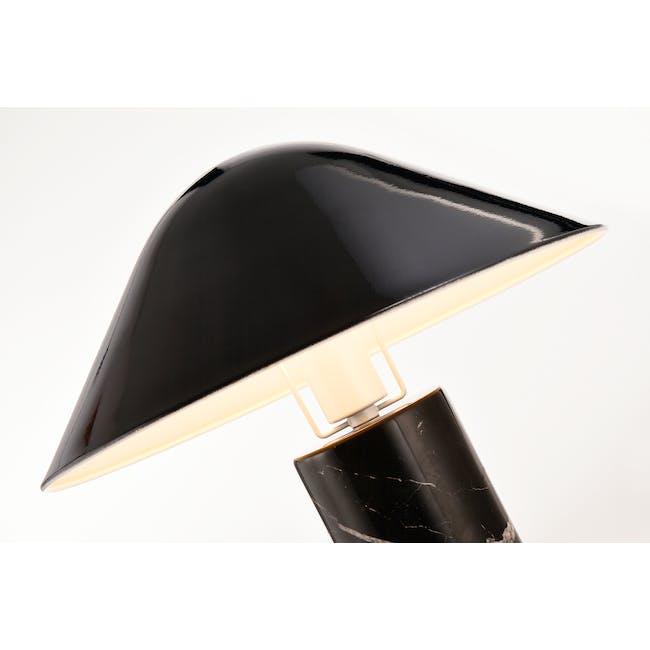 Loane Marble Table Lamp - Black - 1