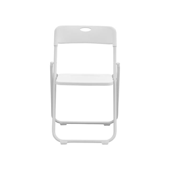 Nixon Folding Chair - White - 1