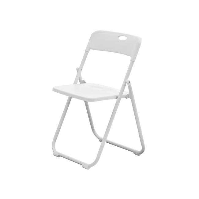 Nixon Folding Chair - White - 0