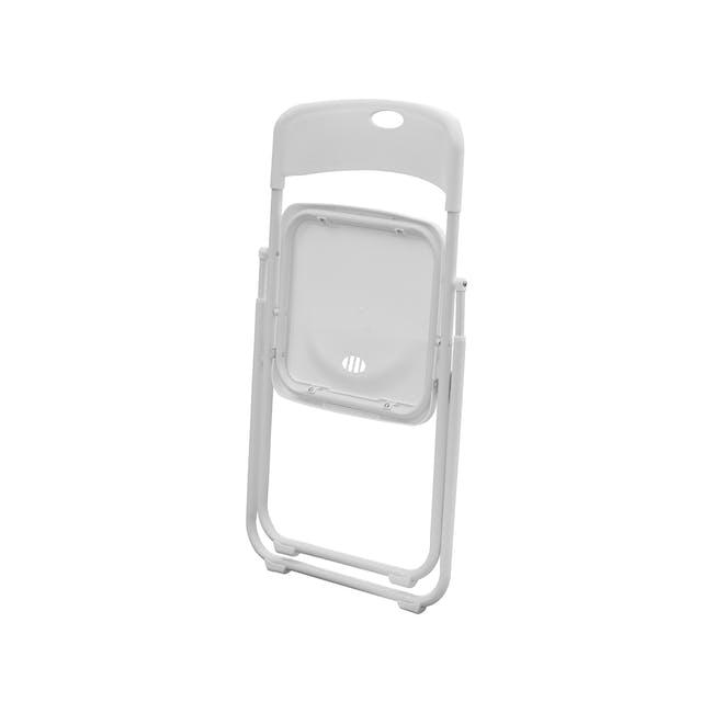 Nixon Folding Chair - White - 4