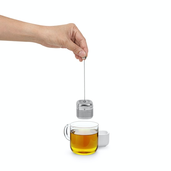 Umbra - Cutea Tea Infuser - White, Nickel