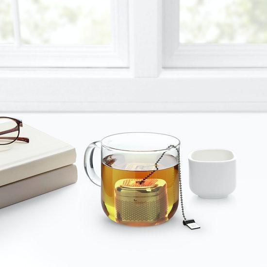 Umbra - Cutea Tea Infuser - White, Nickel