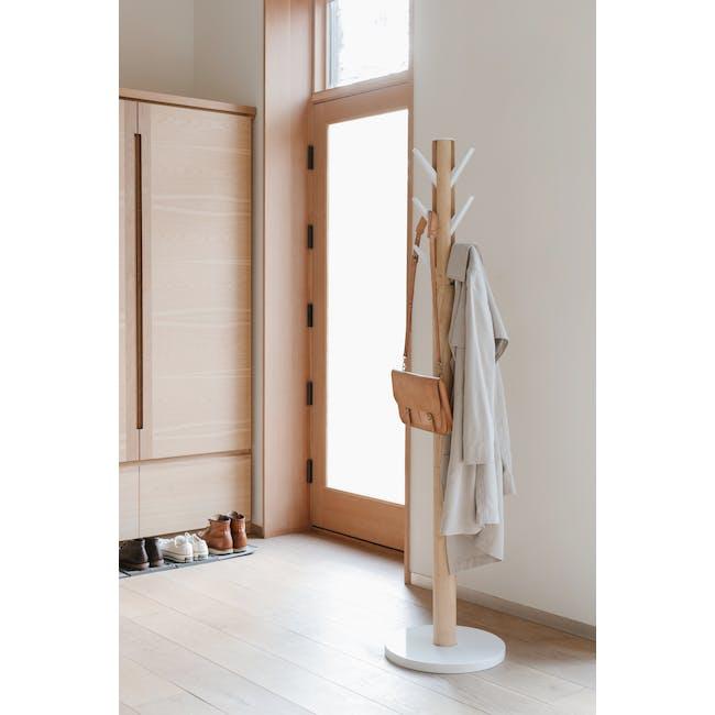 Flapper Coat Rack - White, Natural - 6