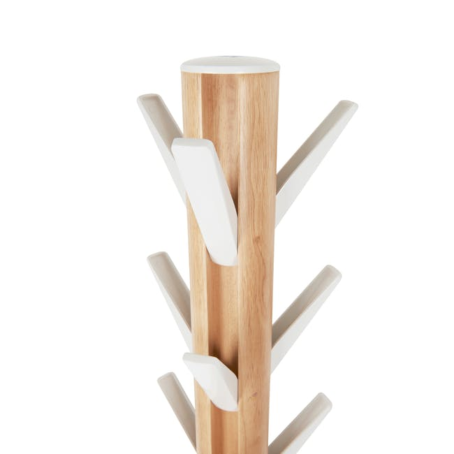 Flapper Coat Rack - White, Natural - 2