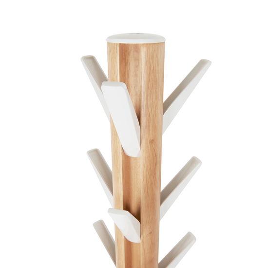 Flapper Coat Rack White Natural Umbra Hipvan