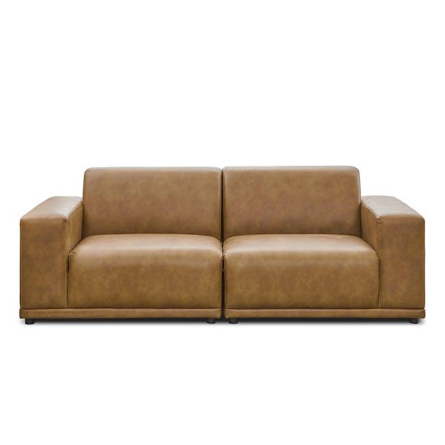 Milan 3 Seater Sofa - Tan (Faux Leather) - 0