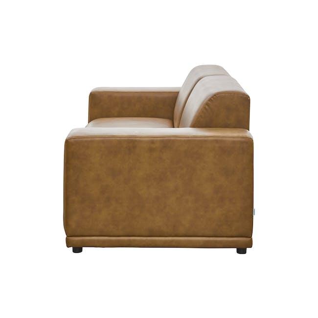 Milan 3 Seater Sofa - Tan (Faux Leather) - 4