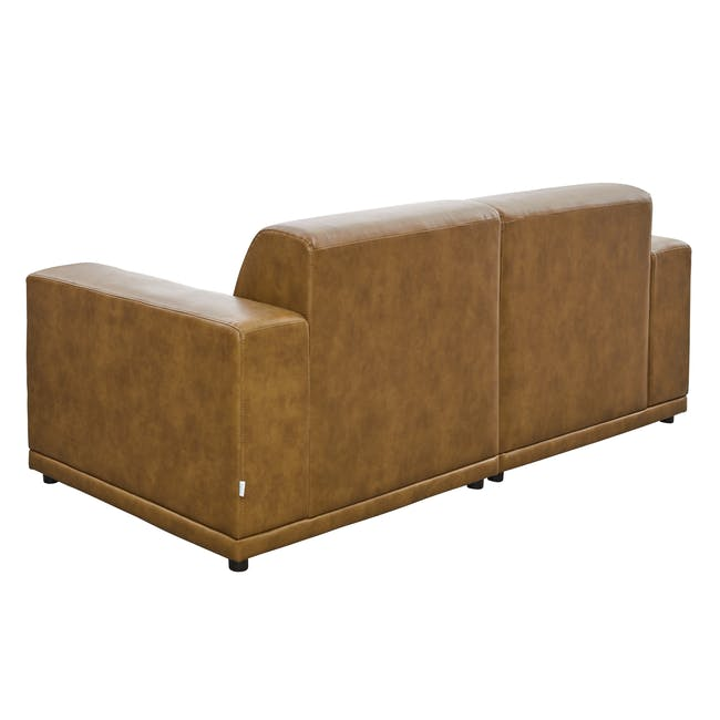Milan 3 Seater Sofa - Tan (Faux Leather) - 3
