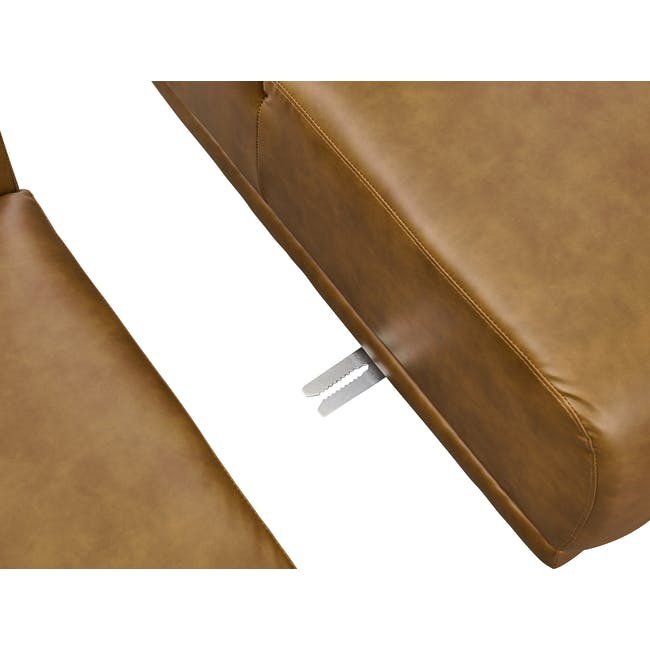 Milan 3 Seater Sofa - Tan (Faux Leather) - 6