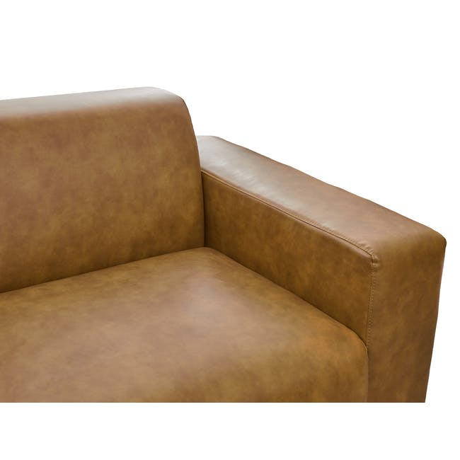 Milan 3 Seater Sofa - Tan (Faux Leather) - 5