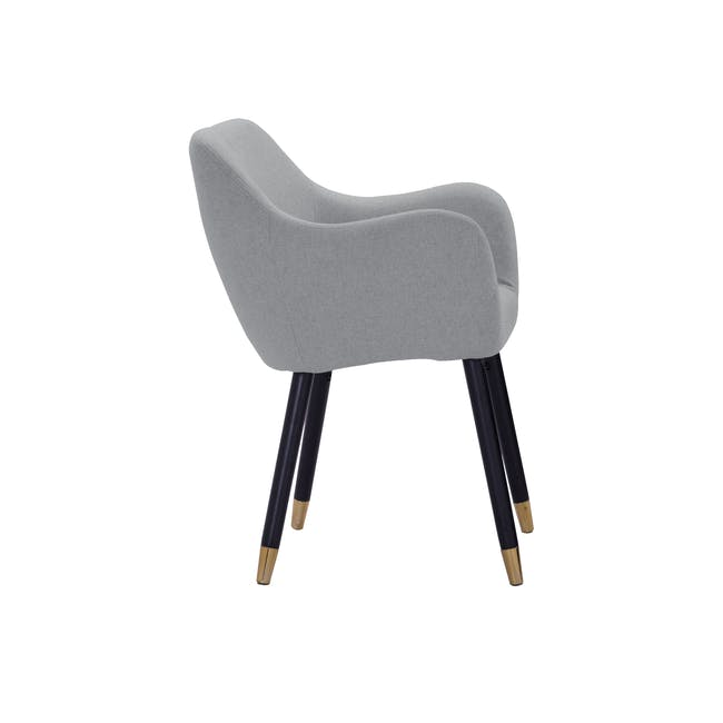 Aubree Dining Armchair - Grey Goose (Fabric) - 5