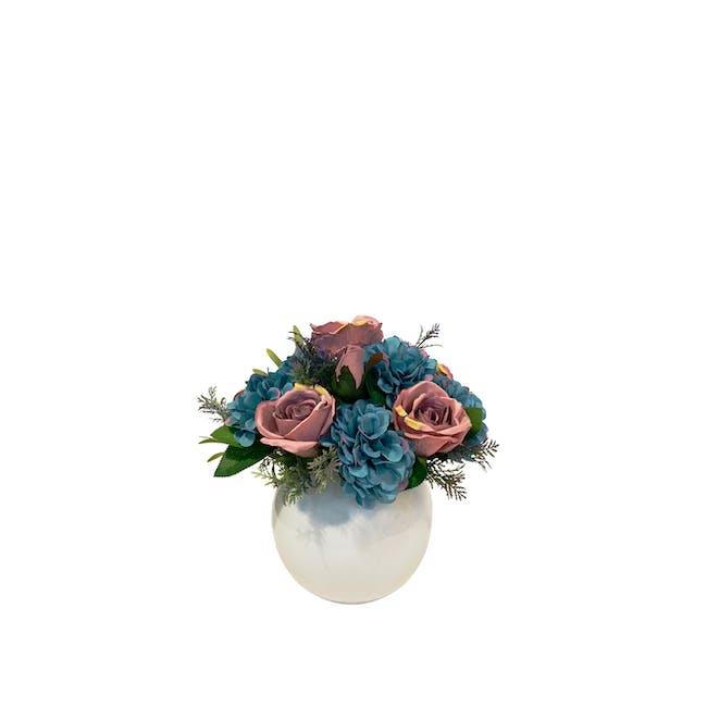 Small Floral Glass Globe - Design 5 - 0