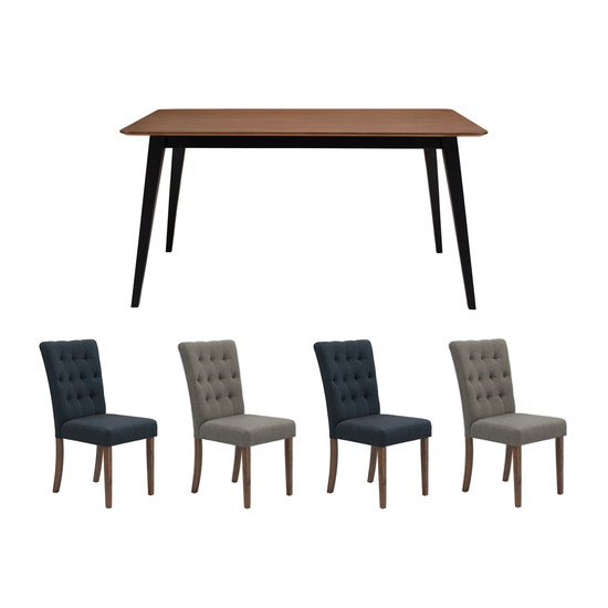 1d19410dd9 HipVan Bundles - Ralph Dining Table 1.5m with 4 Henry Dining Chairs - Cocoa