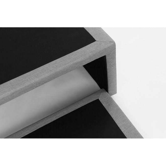 ESSENTIALS Super Single Trundle Bed - Grey (Fabric) - 3