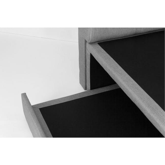 ESSENTIALS Super Single Trundle Bed - Grey (Fabric) - 7