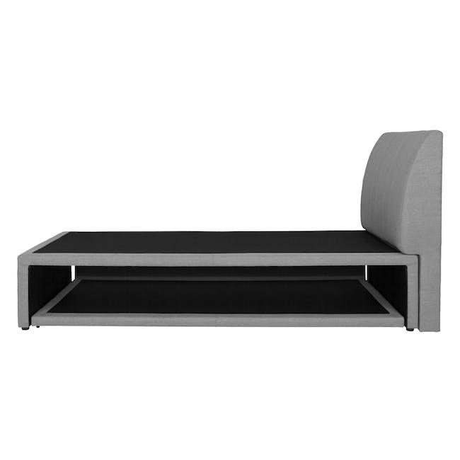 ESSENTIALS Super Single Trundle Bed - Grey (Fabric) - 4