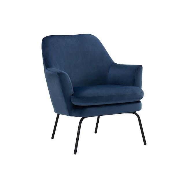 Lucian Lounge Chair - Peacock (Velvet) - 1