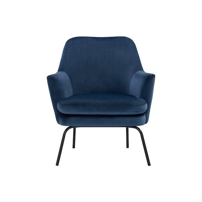 Lucian Lounge Chair - Peacock (Velvet) - 0