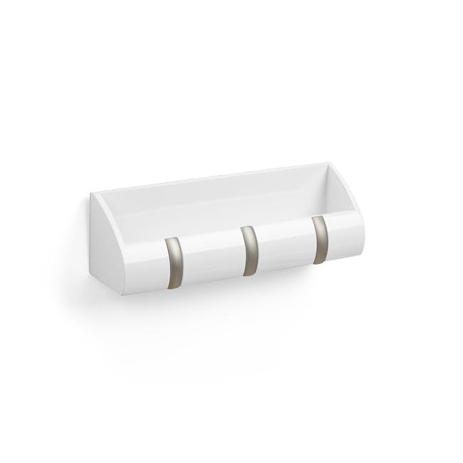 Cubby Mini Key Hook & Organiser - White - 2