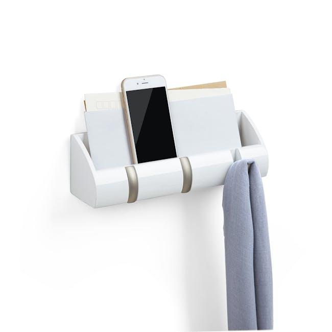 Cubby Mini Key Hook & Organiser - White - 0