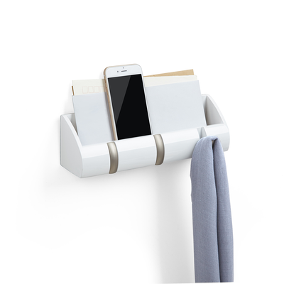 Cubby Mini Key Hook & Organiser - White - Image 1
