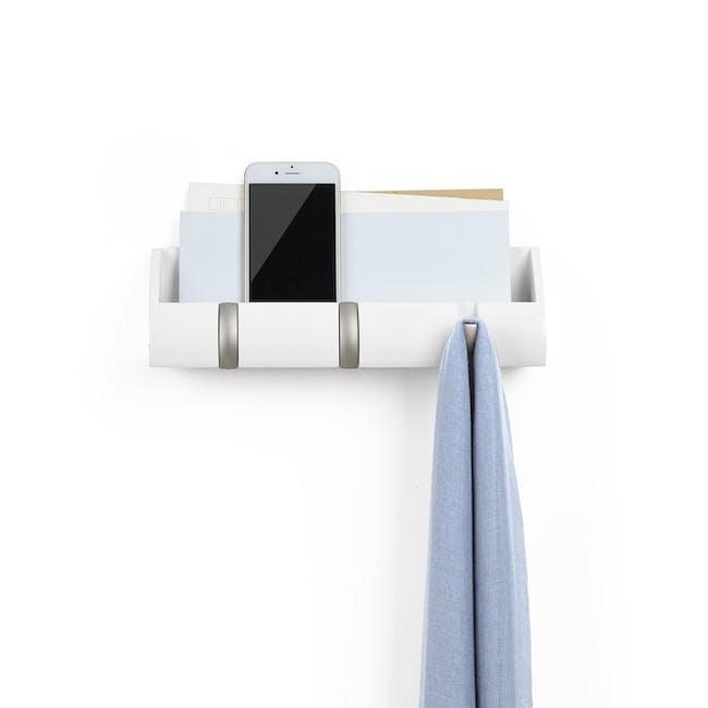 Cubby Mini Key Hook & Organiser - White - 1