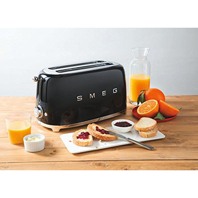 Smeg 2-Slice Toaster - Black