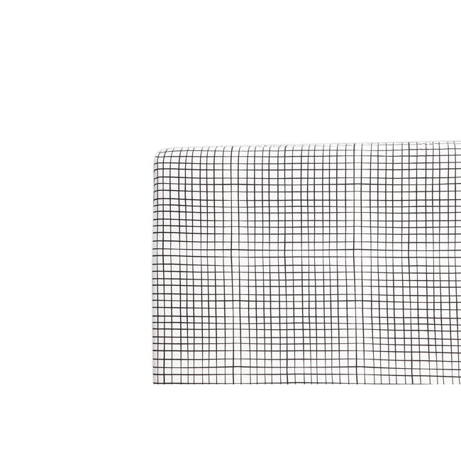 Babyletto Tuxedo Monochrome Grid Fitted Crib Sheet - 0