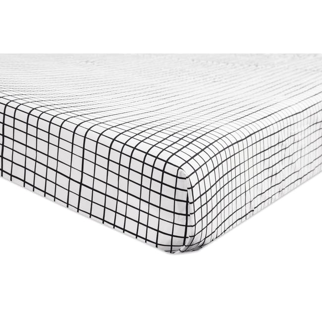 Babyletto Tuxedo Monochrome Grid Fitted Crib Sheet - 1