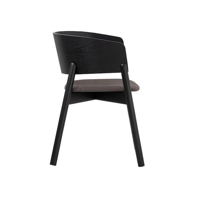 Copen Dining Armchair - Black, Chestnut - 1