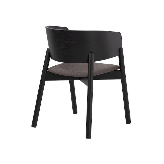 Copen Dining Armchair - Black, Chestnut - 2