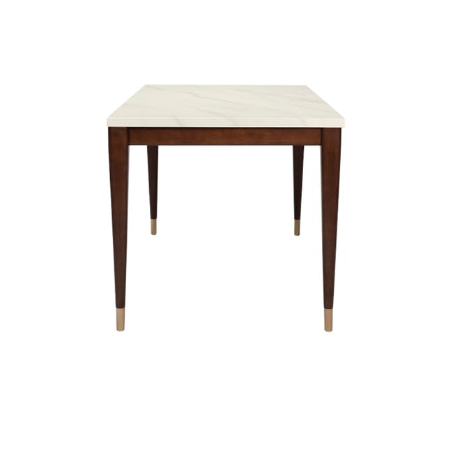 Persis Marble Dining Table 1.5m - White, Walnut - 4