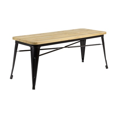 Tolix Industrial Metal Bench - Black