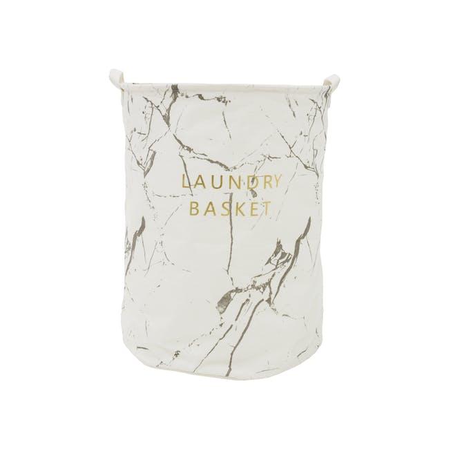 Marble Laundry Basket - White - 0