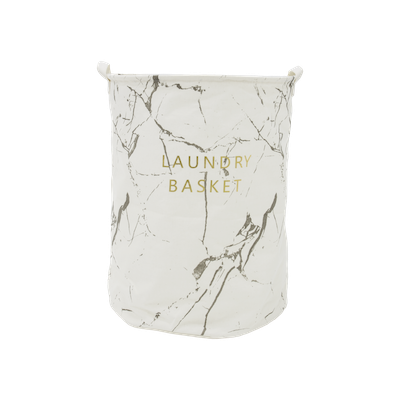 Marble Laundry Basket - White - Image 2